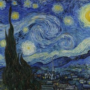Vincent Van Gogh Paper Wall Poster Starry Night
